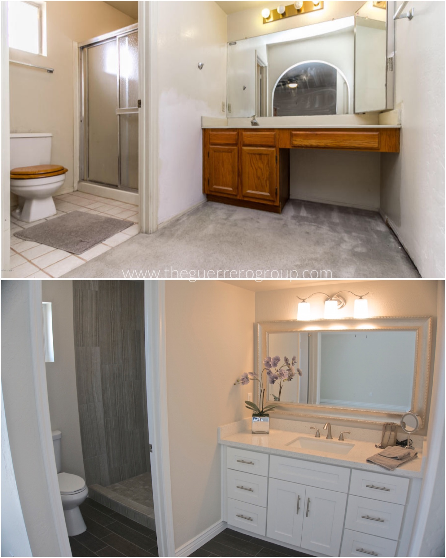 The Guerrero Group Bathroom Renovation Design at latest Chandler Home Project 2401 N Palomino Ct 85224