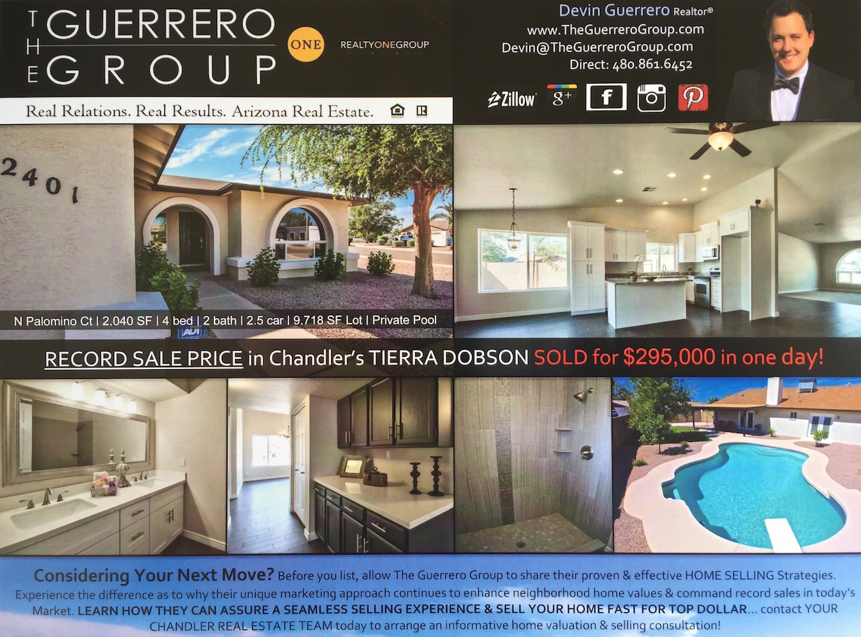 the guerrero group tierra dobson Chandler home sale
